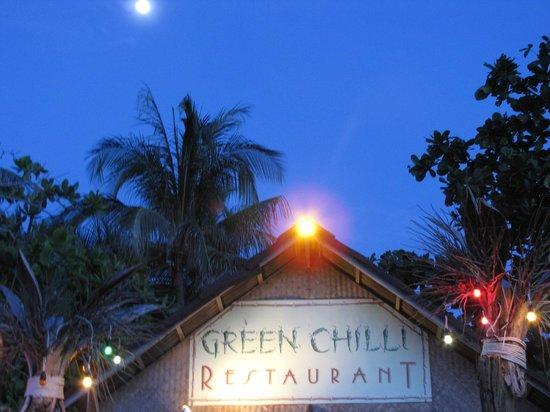 Green Chilli Restaurant: The restaurant @ full moon