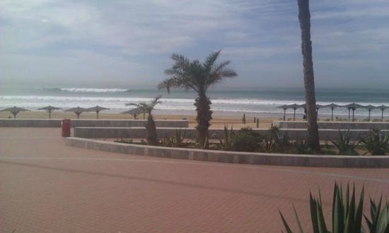 Hotel Riu Tikida Beach: The view from the lunch restaurant terrace