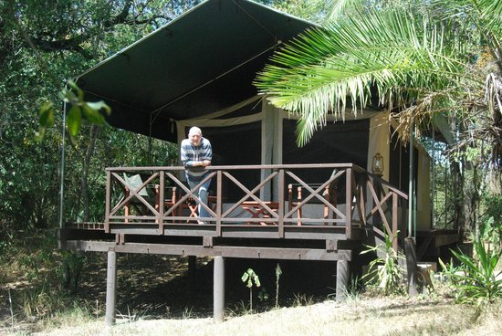 Mara Intrepids Luxury Tented Camp : Enjoying the view from our 'tent'