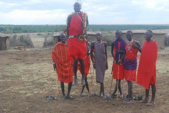 Mara Intrepids Luxury Tented Camp: The Masai leap