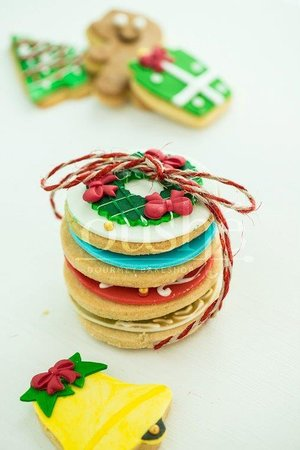 Festive Butter And Sugar Cookies Holidays Christmas Gifts