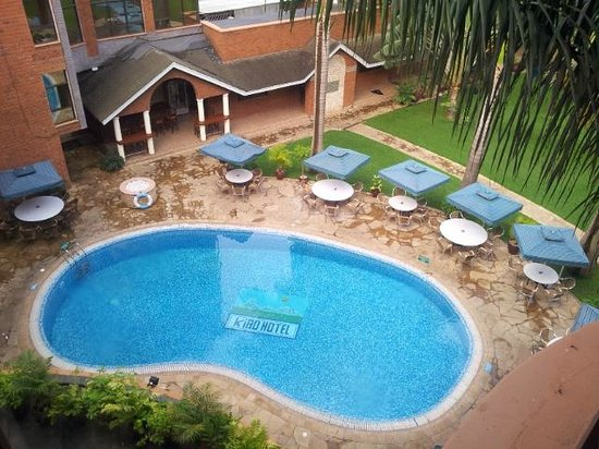 Kibo Palace Hotel: View from my window- the pool