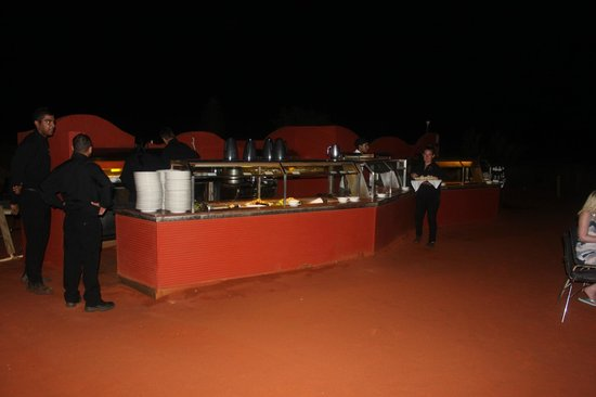 Sounds of Silence Experience : Buffet station