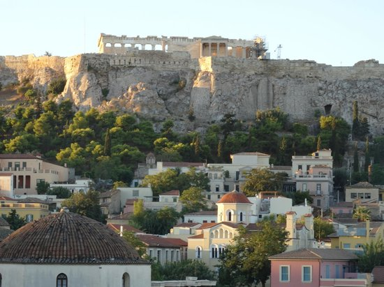 A for Athens : Waking up to the sound of church bells and the Acropolis view