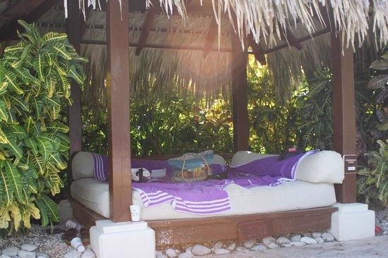 Paradisus Palma Real Golf & Spa Resort: lit Bali à la piscine