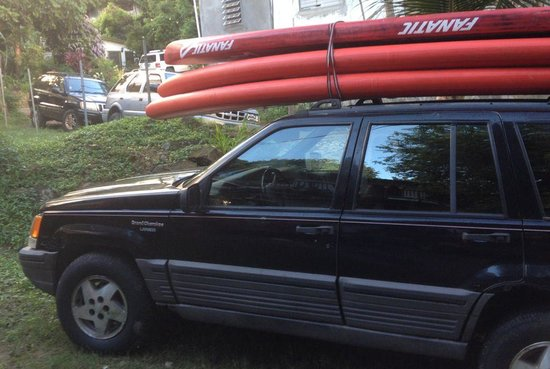 "SUP St. John - Learn to Paddleboard in the USVI: They have brand new Fanatic boards, Fly Air 12'x34"" super easy, Fly Allround 10'6-11'6"" and even"