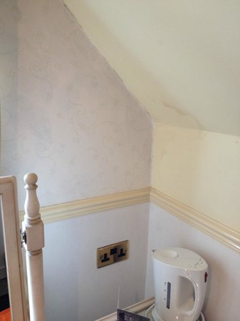 Studley Castle Hotel and Conference Centre: Damp walls