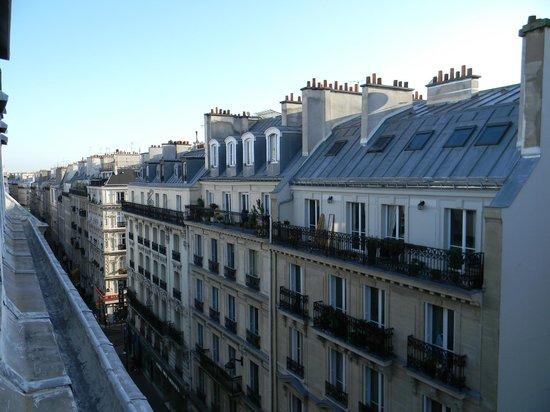 Hotel Victor Masse: vista dalla mansarda al sesto piano.