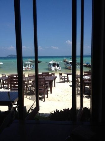 P.P. Erawan Palms Resort: view from hotel restaurant