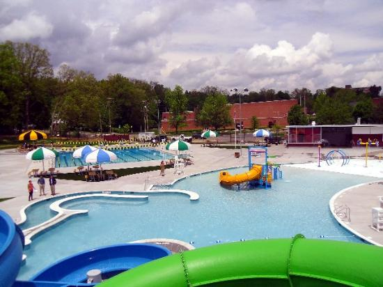 The Waterslides And Water Play Structure At Welch Pool Picture Of William Welch Community Pool