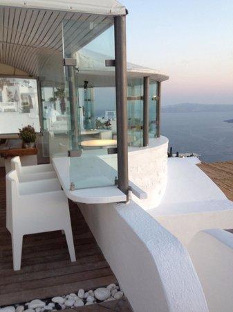 Sun Rocks Hotel : 朝食の場所