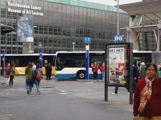 ibis Luzern Kriens: Luzerne Railway station & Art museum.