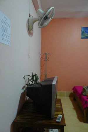 Bun Kao Guesthouse : TV and fan