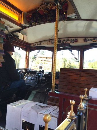 Wine Trolley Tours: A view from inside the Trolley