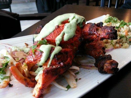 Amaya Express: Tandoori Whole chicken with Quinoa and mint chutney