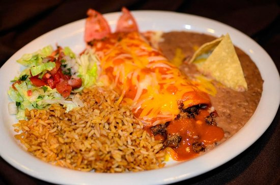 Beef Enchiladas at The Garden Grille & Bar South Padre Island