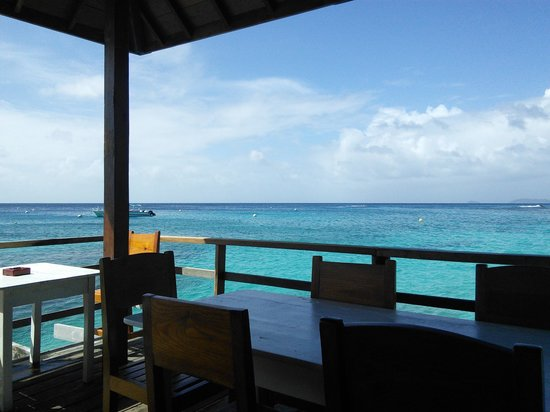 Basils bar: The view from the restaurant