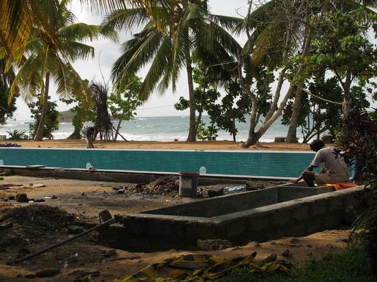 Paradise Beach Club: Pool construction
