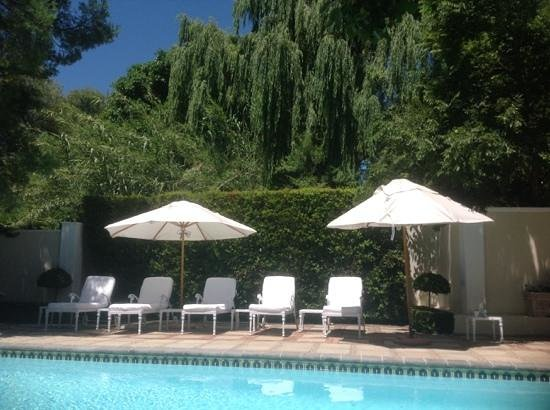 Rosenhof Country House: View from my lounger at the pool