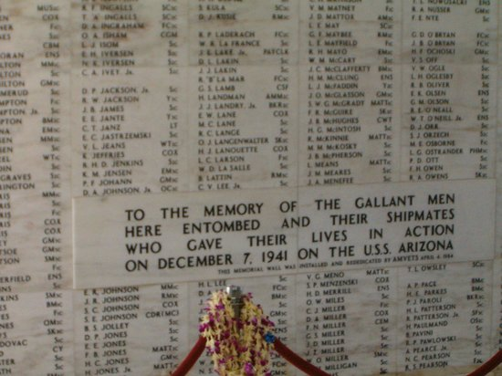 USS Arizona Memorial/WW II Valor in the Pacific National Monument : Inside the Arizona Memorial