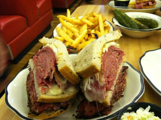 Kenny & Ziggy's New York Deli: Fiddler on the roof of your mouth sandwich. Yes I finished it for lunch.