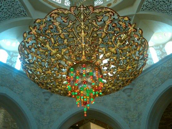 Mosquée Cheikh Zayed : shandlier at centre