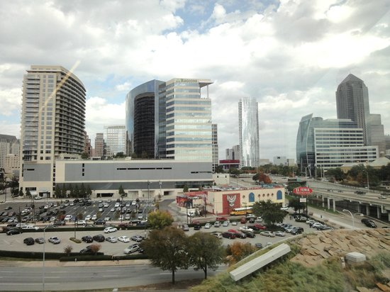 Perot Museum of Nature and Science: View of downtown from the museum