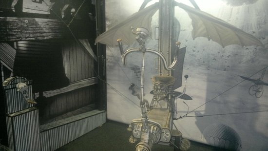 Karel Zeman Museum: One of the famous props from The Fabulous World of Jules Verne (you can actually try it!)