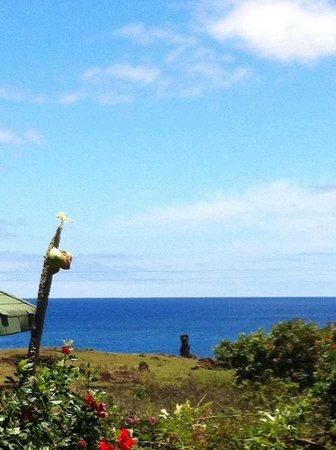 Hostal Cabanas Akapu: foto desde la cabaña que nos dieron