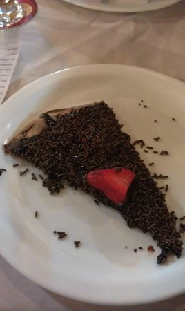 Galeto's: Chocolate pizza! :)