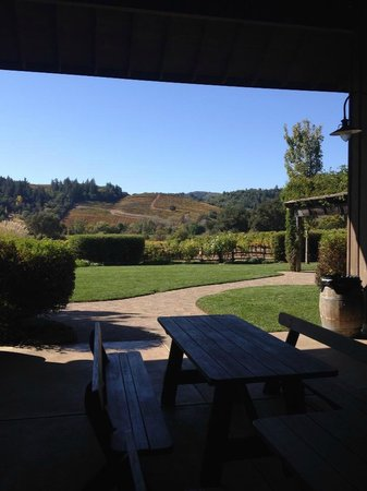 Dutcher Crossing Winery: Picnic area