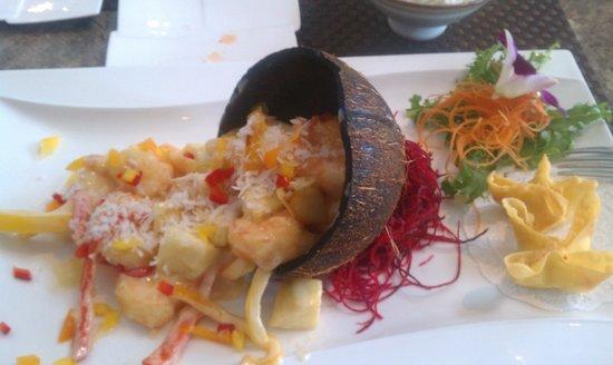 Asian Temptation: coconut shrimp