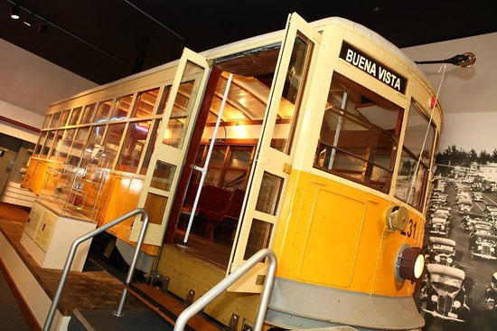 HistoryMiami : 1920s trolley on display in Tropical Dreams: A People's History of South Florida