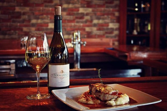 Saltimbocca: Authentic Italian cuisine paired with a fine Italian wine.