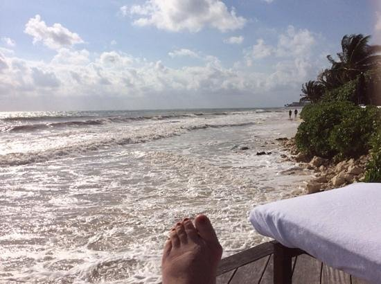 Rosewood Mayakobá: view from poolside deckchair.