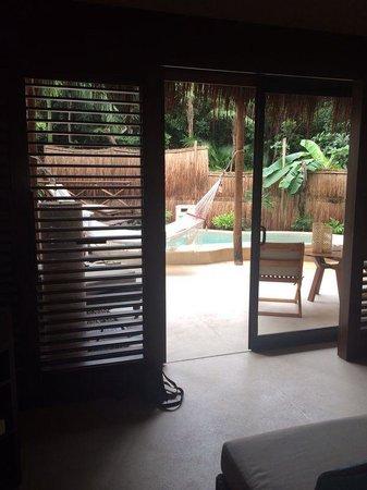 Viceroy Riviera Maya : Desde el cuarto terraza privada