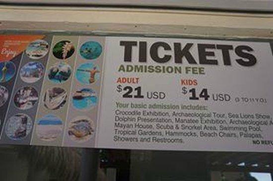 Chankanaab Reef: Admission Prices