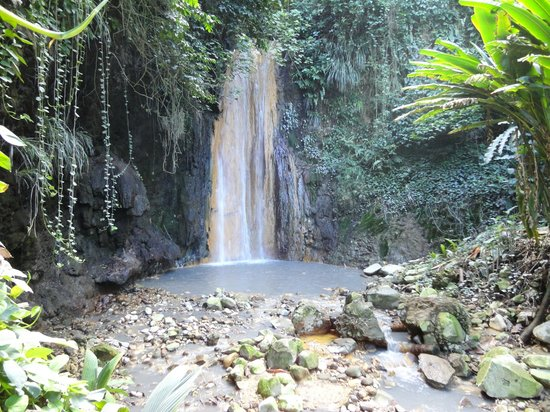 Coconut Bay Beach Resort & Spa: Waterfall near Soufrierre visited on our day trip.