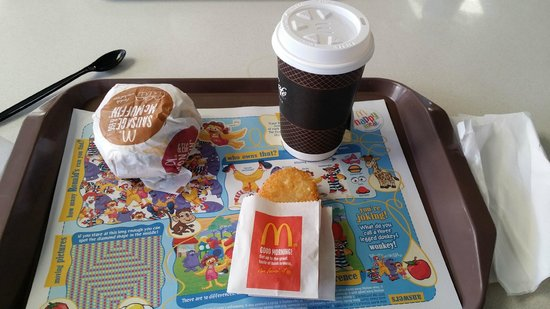 McDonald's: Breakfast set with tea from the McCafe section