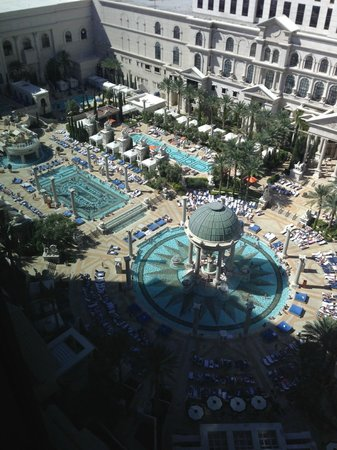 Caesars Palace: view from room