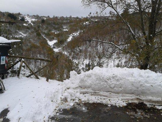 Croce del Pratomagno: paesaggio invernale del pratomagno