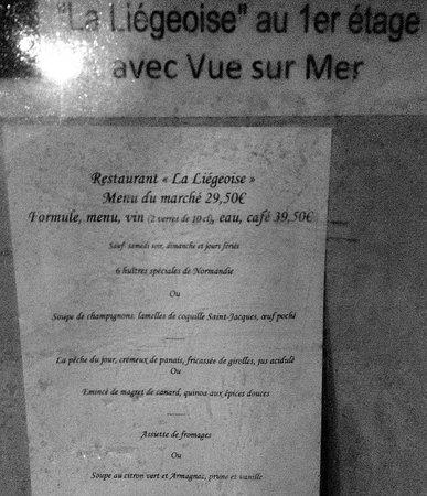 Restaurant La Liegeoise : Tromperie...