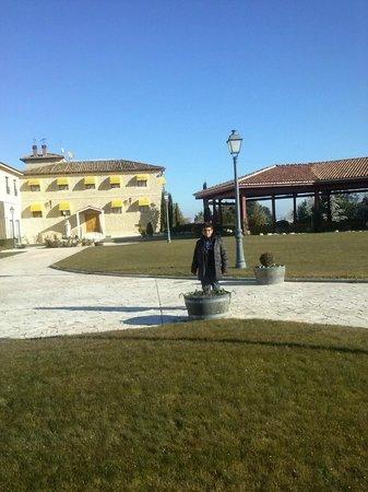 Hotel Torremilanos: Jardin trasero