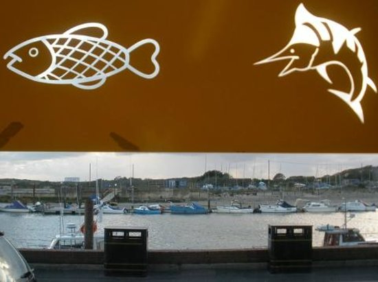 Fred's Fish & Chip Shop: The front of the shop looking onto the Arun River