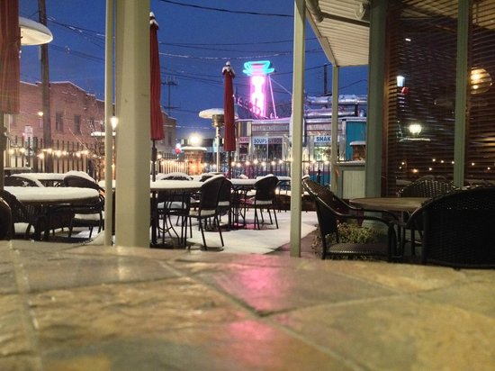 50 West: Snow-Covered Patio
