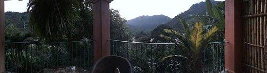 Casa La Ventana: Sun rising in the east looking over the river- El Rio balcony
