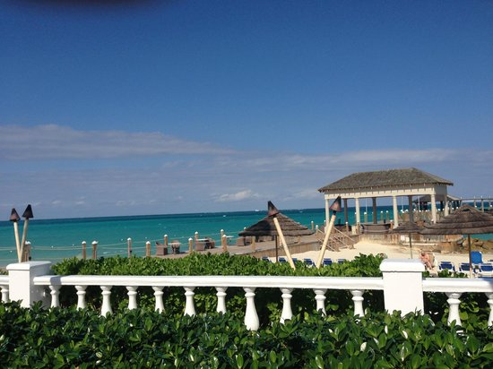 Sandals Royal Bahamian Spa Resort & Offshore Island: View from the tables for pizza
