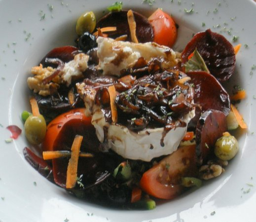 The View: Goats cheese and beetroot salad