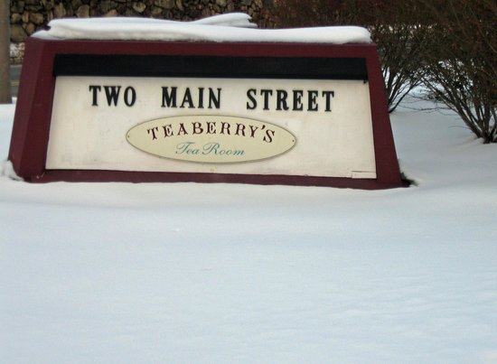 Teaberry's Tea Room : Street marker