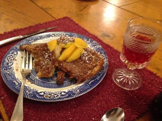 Southmoreland on the Plaza : delicious pecan encrusted french toast for breakfast!